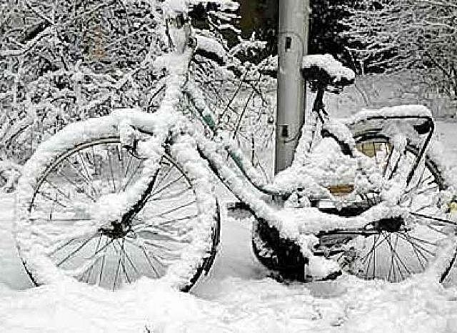 Je fiets accu in de winter!
